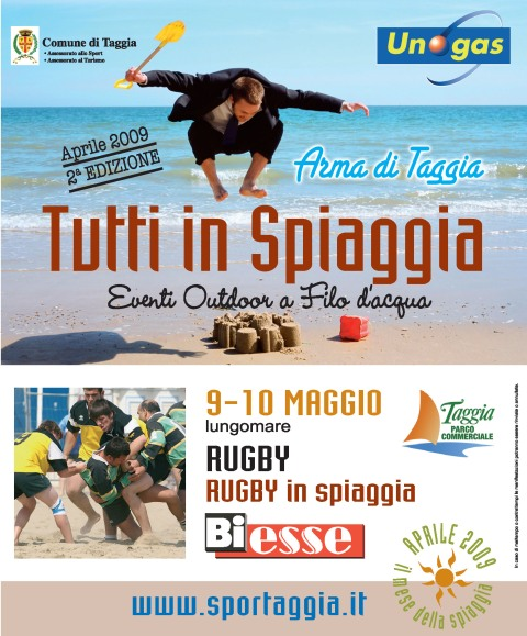 tutti in spiaggia rot rugby