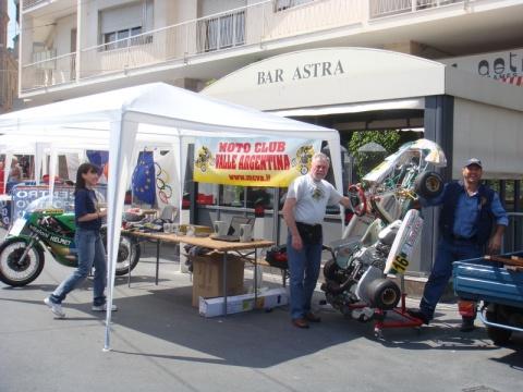 Lo stand del Moto Club Valle Argentina